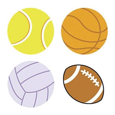 Trend Sports Balls superShapes Stickers, 800 CT (T-46074)