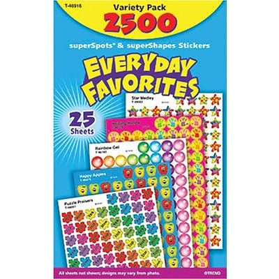 Trend Everyday Favorites superSpots/superShapes Variety Pack, 2500 CT (T-46916)