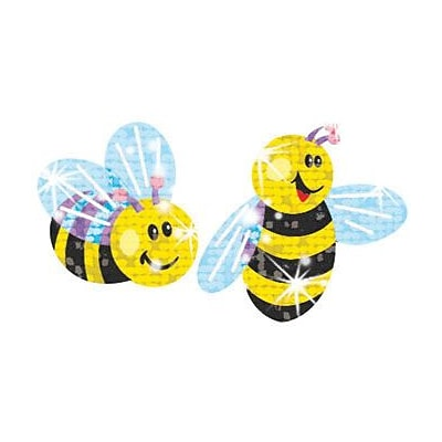 Trend Buzzing Bumblebees Sparkle Stickers, 72 CT (T-63031)