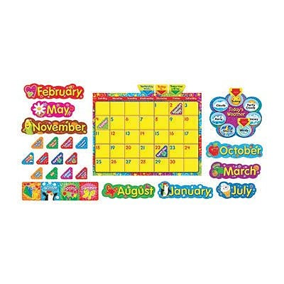 Trend® Bulletin Board Sets, Wipe Off® Stars n Swirls Calendar