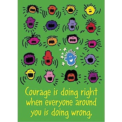 Trend ARGUS Poster, Courage is doing right…