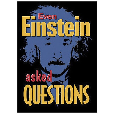 Trend® Educational Classroom Posters, Even Einstein asked questions
