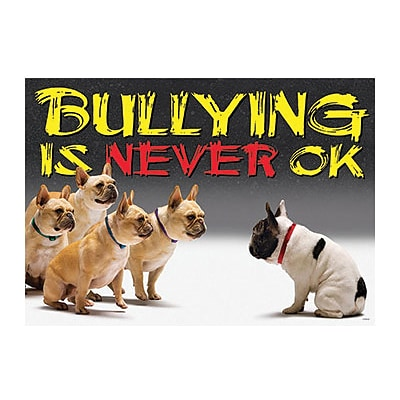 Trend® Educational Classroom Posters, Bullying is never OK