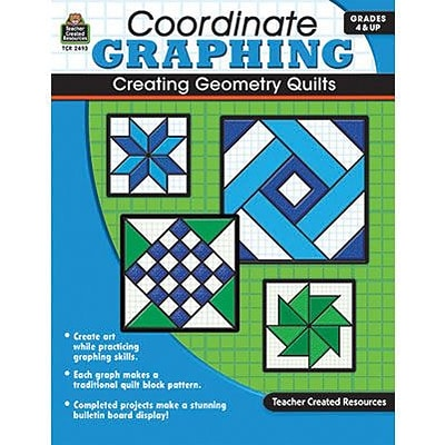Coordinate Graphing, Creating Geometry Quilts, Grades 4 & Up