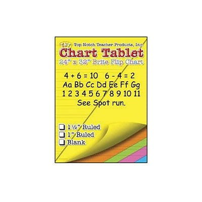 Top Notch Teacher Products® 32 x 24 Large Chart Tablet, Blank, 25/Sheets (TOP3822)