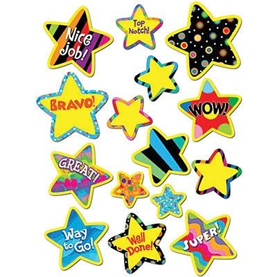 Creative Teaching Press Stickers, Poppin Patterns Bright Star