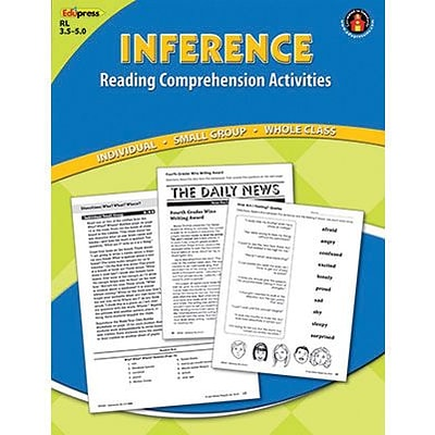 Reading Comprehension Activity Book, Inference, Reading Levels 3.5-5.0