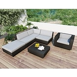 Sonax® Park Terrace Resin Rattan Wicker 6 Piece Sectional Patio Sets; 5/Set