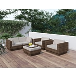 Sonax® Park Terrace Resin Rattan Wicker 5 Piece Sofa Patio Sets; 5/Set
