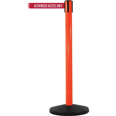 SafetyMaster 450 Orange Retractable Belt Barrier with 8.5 Red/White AUTHORIZED Belt