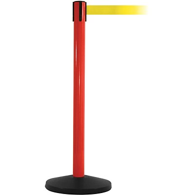 SafetyMaster 450 Red Retractable Belt Barrier with 8.5 Yellow Belt