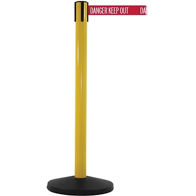 SafetyMaster 450 Yellow Retractable Belt Barrier with 8.5 Red/White DANGER Belt
