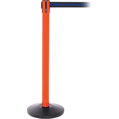 SafetyPro 250 Orange Retractable Belt Barrier with 11 Black/Blue Belt