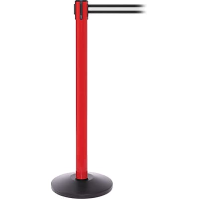 SafetyPro 250 Red Retractable Belt Barrier with 11 Black/White Belt