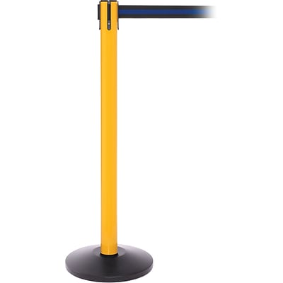 SafetyPro 250 Yellow Retractable Belt Barrier with 11 Black/Blue Belt