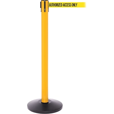 SafetyPro 250 Yellow Retractable Belt Barrier with 11 Yellow/Black AUTHORIZED Belt