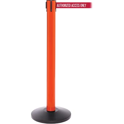 SafetyPro 300 Orange Retractable Belt Barrier with 16 Red/White AUTHORIZED Belt