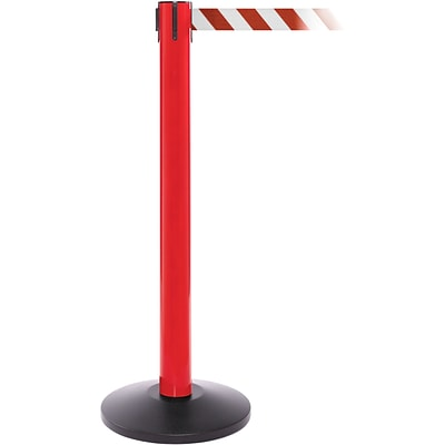 SafetyPro 300 Red Retractable Belt Barrier with 16 Red/White Belt