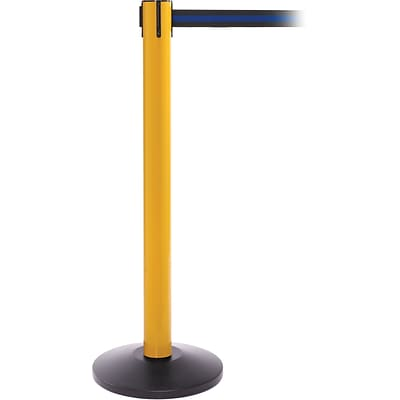 SafetyPro 300 Yellow Retractable Belt Barrier with 16 Black/Blue Belt