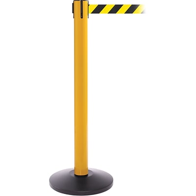 SafetyPro 300 Yellow Retractable Belt Barrier with 16 Black/Yellow Belt