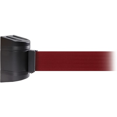 WallPro 300 Black Wall Mount Belt Barrier with 10 Maroon Belt