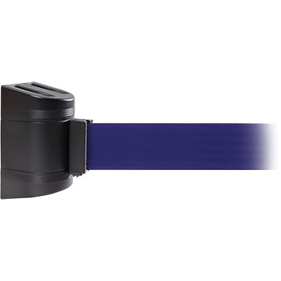 WallPro 450 Black Wall Mount Belt Barrier with 20 Blue Belt