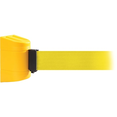WallPro 450 Yellow Wall Mount Belt Barrier with 30 Yellow Belt