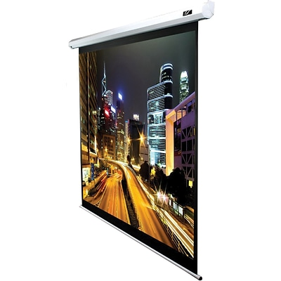 Elite Screens™ Spectrum Series 84 Electric Wall and Ceiling Projector Screen; 16:9; White/Black