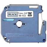 Brother® Non-Laminated Label Tape For P-Touch Printer; 0.35W x 26.2L, Black on Silver
