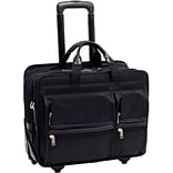 McKlein® Clinton P Series 2-in-1 Removable Wheeled Laptop Case For 17 Laptop; Black