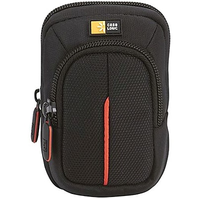 Case Logic® DCB-302 Compact Camera Case With Storage; Black