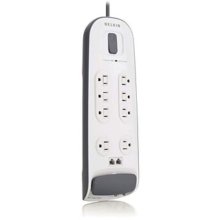 Belkin® BV112230-06 8-Outlets 3000 Joule Surge Protector With 6 Cord; Telephone Protection