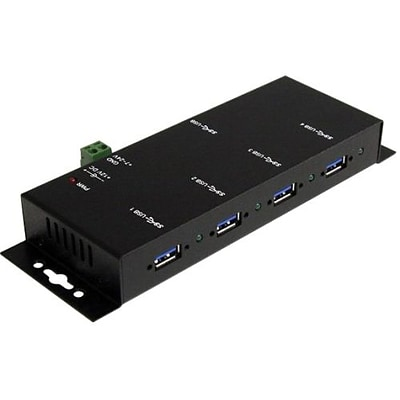 Startech ST4300USBM Mountable Rugged Industrial Super Speed USB 3.0 Hub; 4 Ports