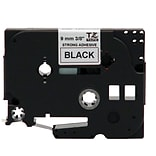 Brother® TZE 0.35(W) Industrial Label Tape; Black On White