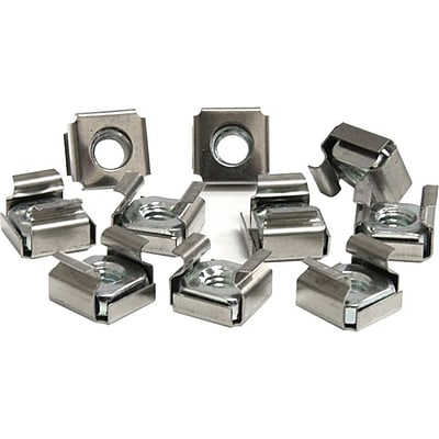 Startech CABCAGENUTS6 Cage Nuts For Server Rack Cabinet, 50/Pack