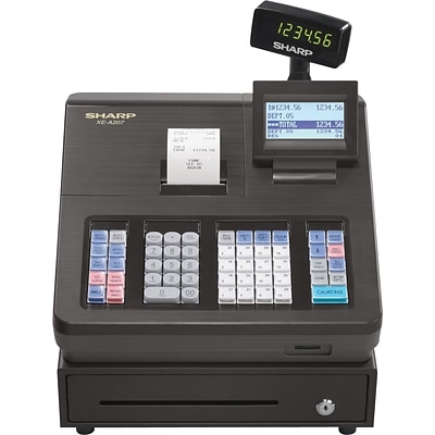 Sharp® XEA207 Thermal Print Electronic Cash Register, Black