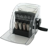Royal Sovereign® QS-1 Manual Hand Crank 1 Row Coin Sorter