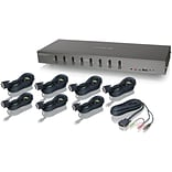 Iogear® GCS1108KIT1 USB/DVI KVMP Switch Kit; 8 Ports