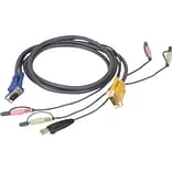 Iogear® Micro-Lite™ G2L5302U Bonded All-in-One USB KVM Cable; 6(L)