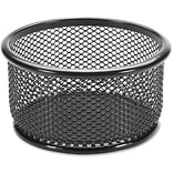 Lorell Mesh Paper Clip Holder, Black