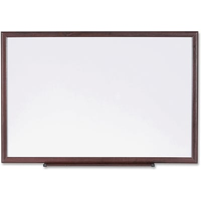 Lorell Wood Frame Dry-Erase Boards, Brown/White
