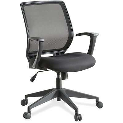 Lorell Executive Mid-back Work Chair, Black