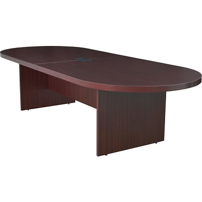 Legacy 120 Racetrack Conference Table with Power and Data Grommet, Mahogany
