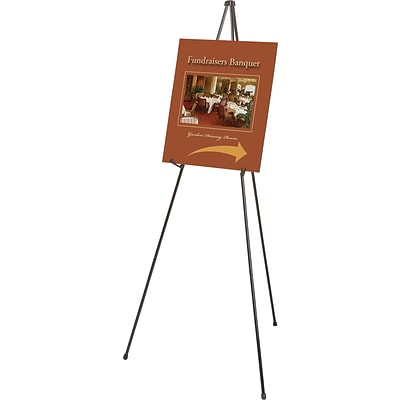 Quartet® Heavy-Duty Instant Easel®, 63, Portable Tripod, Supports 10 lbs.
