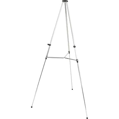 Quartet® Aluminum Lightweight Telescoping Display Easel, 66, Holds 25 lbsSilver