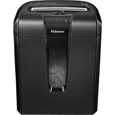 Fellowes Powershred 64CB 10-Sheet Jam Blocker Cross-Cut Shredder