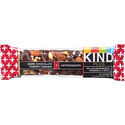 KIND Dark Chocolate Cherry Cashew PLUS Antioxidants Bars; 1.41 oz. Bars, 12 Bars/Box