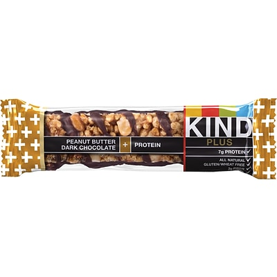 KIND Peanut Butter Dark Chocolate PLUS Protein Bars; 1.41 oz. Bars, 12 Bars/Box