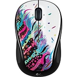 Logitech M325 Wireless Optical Mouse, Ambidextrous, Celebration Black (910-003803)