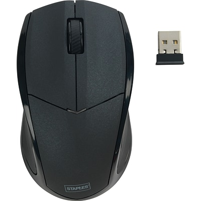 Staples 23420 Cordless Optical Mouse, Black
